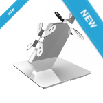 AOPEN Dual Display Desk Stand for Etile Silver (AO-KKD1A2) by intelliscan.com.au